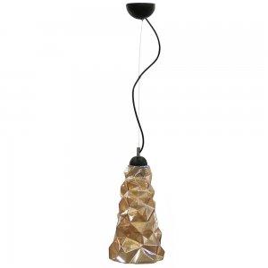 Μονόφωτο μελί φωτιστικό οροφής από γυαλί 18x90 εκ
