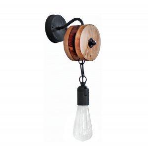 Επιτοίχιο φωτιστικό κρεμαστό με τροχαλία μονόφωτ&omicro