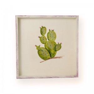 Ξύλινος δίσκος σερβιρίσματος ζωγραφισμένος στ&omic