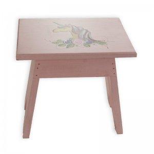 Χειροποίητο ξύλινο σκαμνί με ζωγραφισμένο μονόκερ&
