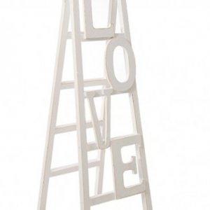 Σκάλα Love Λευκή Ξύλινη 45Χ150 εκ