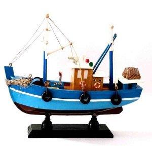 Ψαροκάικο Γρί Γρί ξύλινο Γαλάζιο 20cm