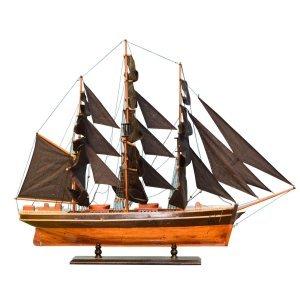 Ιστιοφόρο καράβι διακοσμητικό με μαύρα πανιά 105 εκ