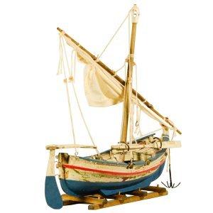 Διακοσμητική Βάρκα με πανιά σε βάση 30 εκατοστά