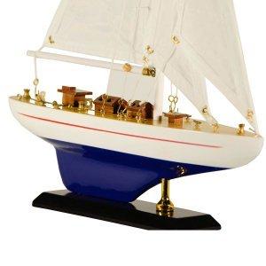 Ιστιοπλοϊκό καράβι διακοσμητικό Λευκό μπλε 30 εκατοστά