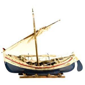 Διακοσμητική Βάρκα με πανιά σε βάση 45 εκατοστά