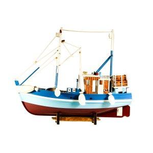 Διακοσμητικό Ελληνικό Ψαροκάικο Ξύλινο Χειροποίητο γαλάζιο 46cm