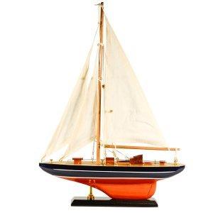Ιστιοπλοϊκό καράβι διακοσμητικό μαύρο κόκκινο 30 εκατοστά