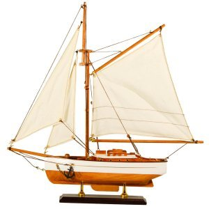 Καράβι με πανιά διακοσμητικό ξύλινο ιστιοπλοϊκό 40cm