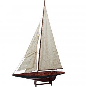 Συλλεκτικό ξύλινο διακοσμητικό ιστιοφόρο Shamrock 1898