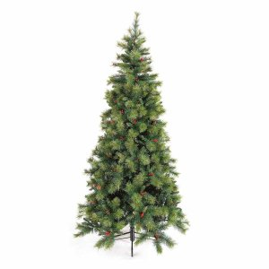 Bea Χριστουγεννιάτικο δέντρο με μικτά κλαδιά κουκουνάρια και berries 210εκ
