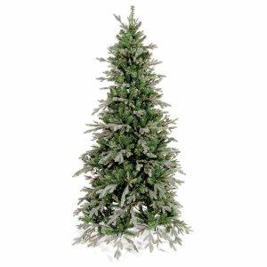 Deaware Silver Χριστουγεννιάτικο δέντρο slim με τριπλό φύλλωμα PE-ND-PVC  210εκ