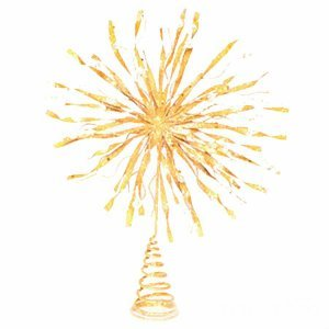KN Χριστουγεννιάτικη Κορυφή Δέντρου Χρυσή 23cm