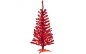 Mini Red Χριστουγεννιάτικο μίνι δεντράκι Κόκκινο 80cm