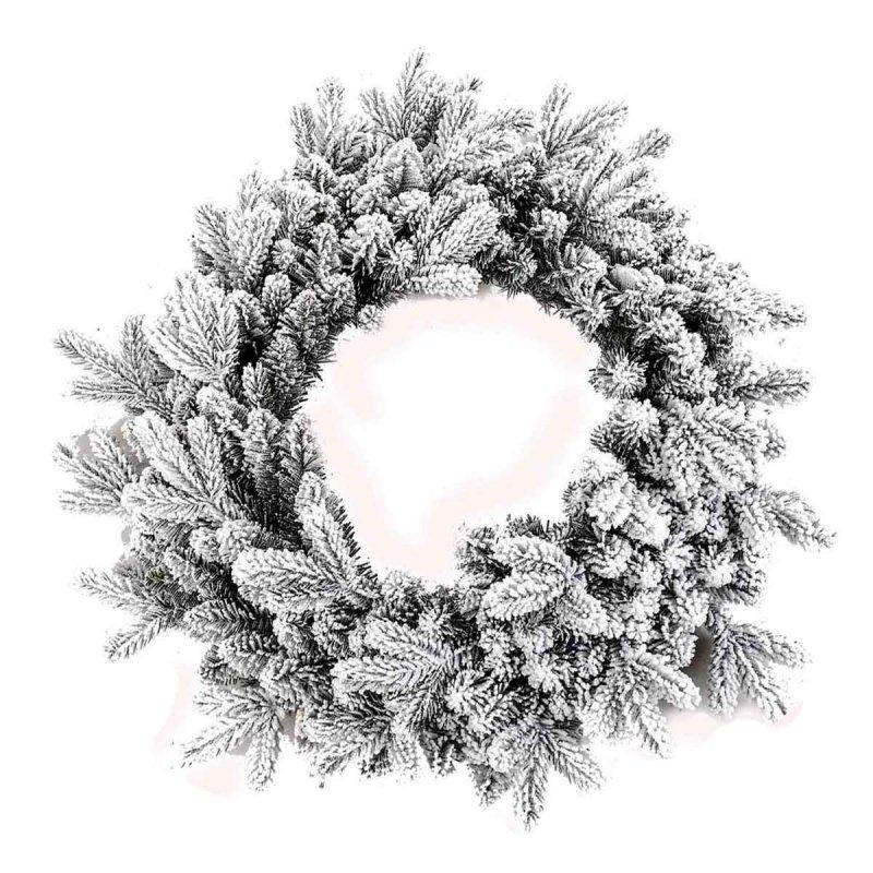 Στεφάνι Χριστουγεννιάτικο χιονισμένο με διάμετρο 60εκ