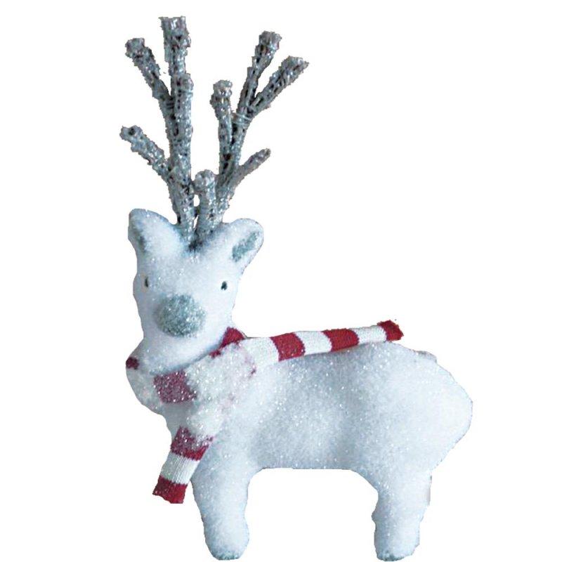 Χριστουγεννιάτικο Διακοσμητικό Ελάφι Λευκό 40cm