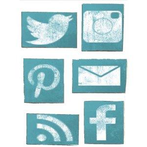 Μαγνητάκια Ψυγείου Χειροποίητα Social Media S/6 τεμ.