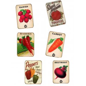 Μαγνητάκια Ψυγείου Χειροποίητα Vegetables S/6 τεμ.