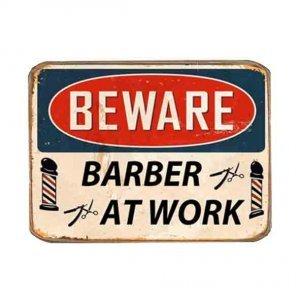 Ρετρό Μαγνητάκι ψυγείου Χειροποίητο Barber at Work