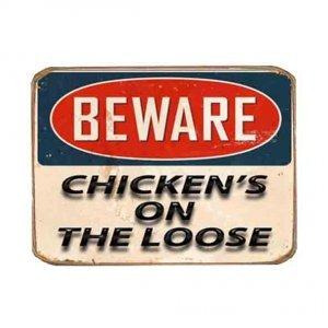 Ρετρό Μαγνητάκι ψυγείου Χειροποίητο Chicken On The Loose