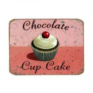 Ρετρό Μαγνητάκι ψυγείου Χειροποίητο Chocolate CupCakes