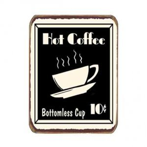 Ρετρό Μαγνητάκι ψυγείου Χειροποίητο Coffee