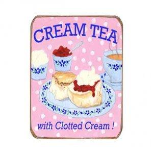 Ρετρό Μαγνητάκι ψυγείου Χειροποίητο Cream Tea
