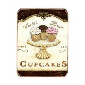 Ρετρό Μαγνητάκι ψυγείου Χειροποίητο Cupcakes