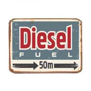 Ρετρό Μαγνητάκι ψυγείου Χειροποίητο Diesel