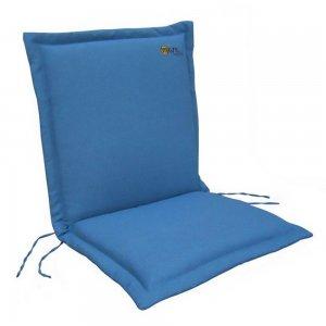 Μπλε μαξιλάρι για πολυθρόνα με χαμηλή πλάτη