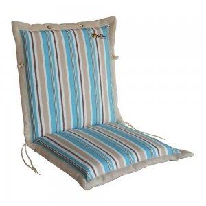 Ριγέ μπεζ γαλάζιο μαξιλάρι πολυθρόνας