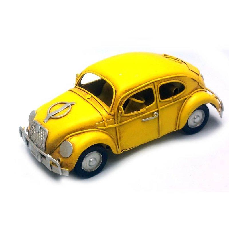 Μεταλλικό διακοσμητικό αυτοκίνητο σκαραβαίος κίτρινο