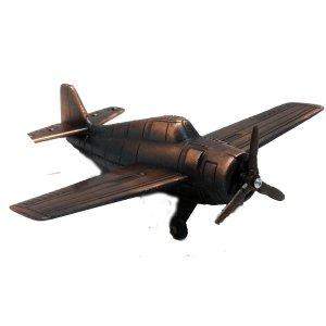 Μεταλλική μινιατούρα και ξύστρα Αεροπλάνα μπρονζέ
