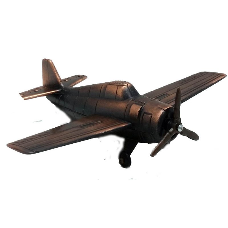 Μεταλλική μινιατούρα και ξύστρα αεροπλάνο μπρονζέ