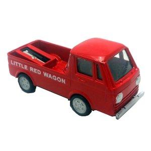 Μεταλλική μινιατούρα και ξύστρα φορτηγάκι κόκκινο