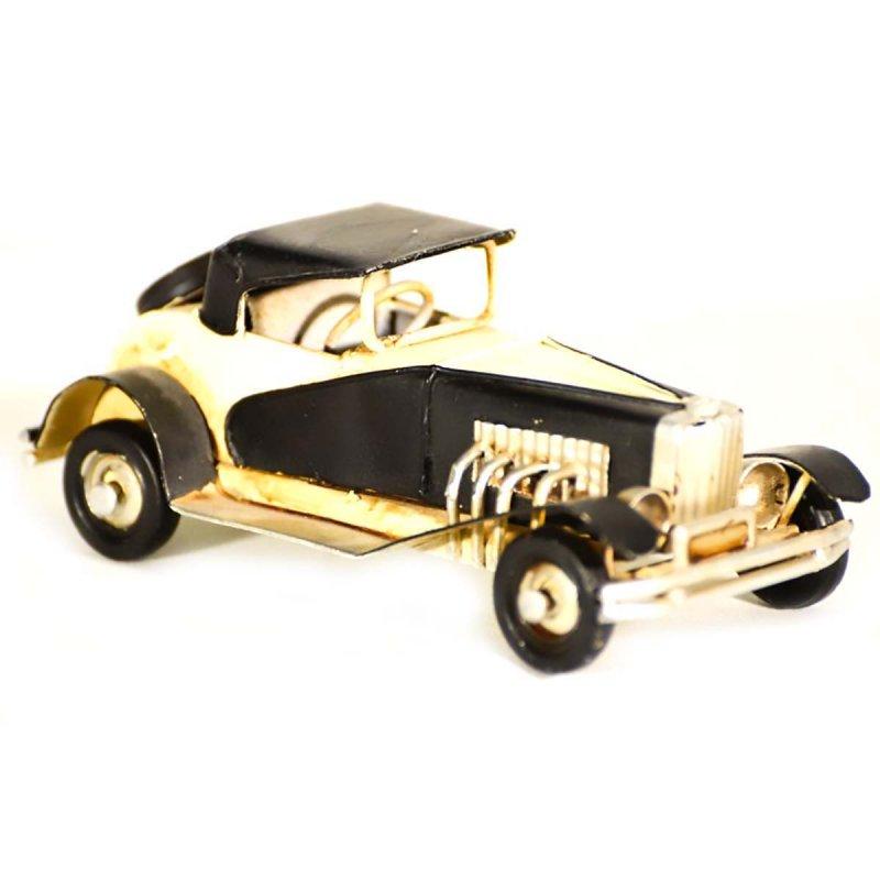 Vintage αυτοκίνητο αντίκα διακοσμητικό μαύρο με εκρού