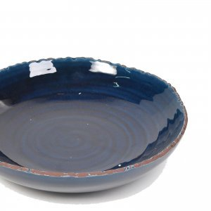 Πέτρινη πιατέλα στρογγυλή σκούρο μπλε 29x6 εκ
