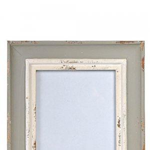 Ξύλινη κορνίζα αντικέ γκρι λευκό 19x2x25 εκ
