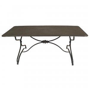 Ρετρό μεταλλικό χαμηλό τραπέζι σαλονιού γκρι μαύρο