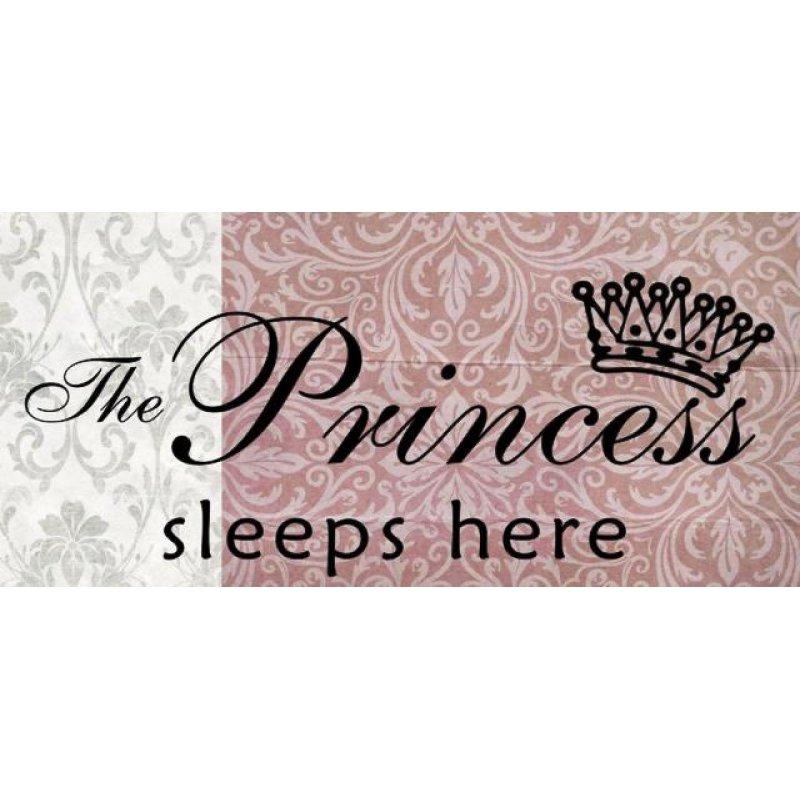 Ξύλινος Ρετρό Πίνακας Χειροποίητος 'The princess sleeps here'