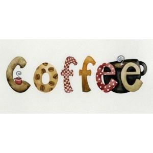 Ξύλινος Ρετρό Πίνακας Χειροποίητος Coffee