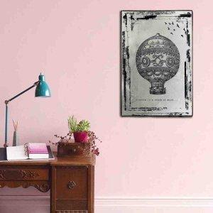 Ξύλινος πίνακας Vintage Airballoon