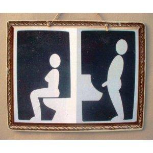Πίνακας xειροποίητος για το wc