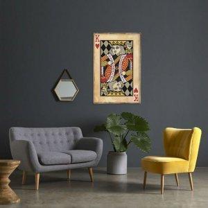 Πίνακας ξύλινος χειροποίητος vintage τραπουλόχαρτο Ρή&gamm