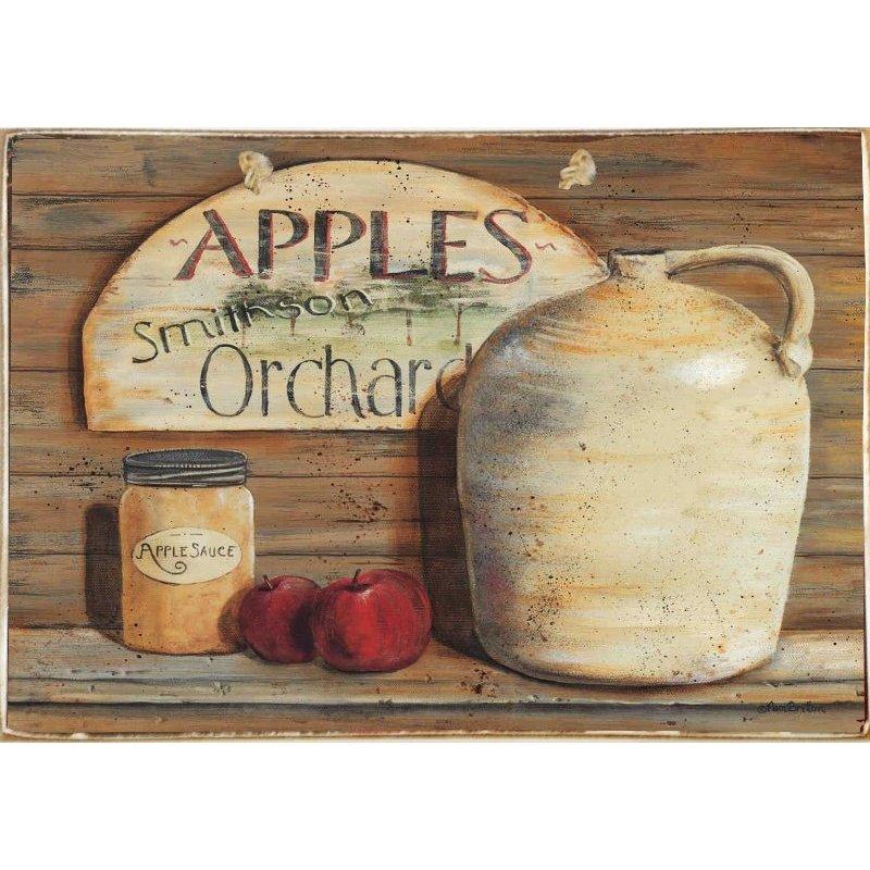 Apple Marmalade -Ξύλινος  Πίνακας Χειροποίητος 20 x 30 cm