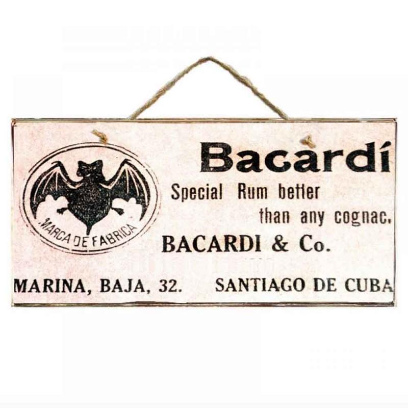 Bacardi Party -Ξύλινος  Πίνακας Χειροποίητος 13 x 26 cm
