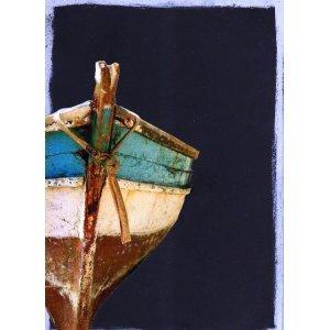 Βάρκα - Χειροποίητος Μαυροπίνακας 20X30 εκατοστά