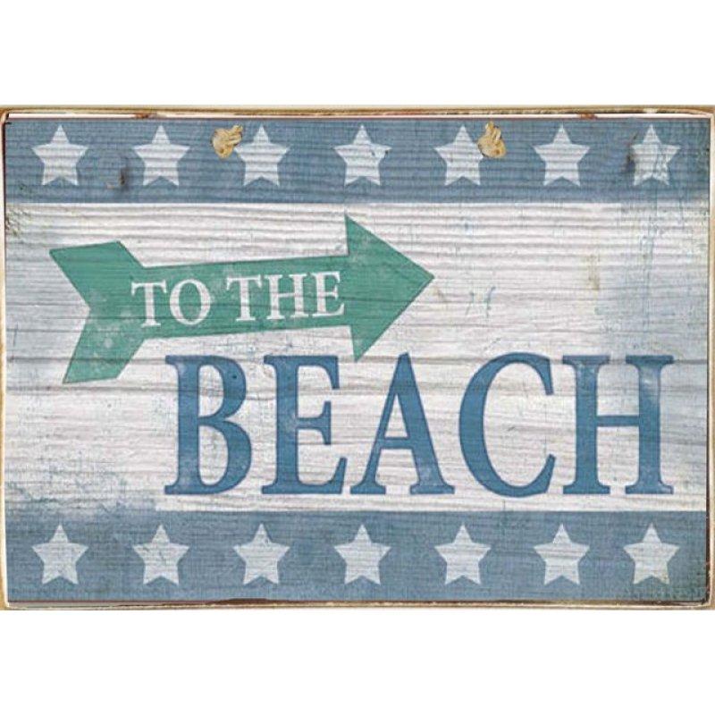 Beach Ξύλινος Vintage Πίνακας 20 x 30 cm