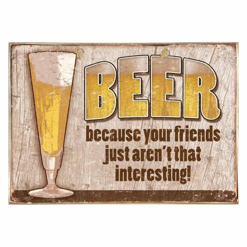 Beer -Ξύλινος  Πίνακας Χειροποίητος 20 x 30 cm