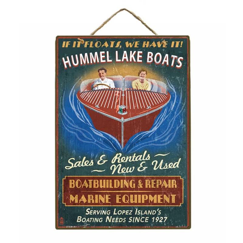 Boat Service Ξύλινος Vintage Πίνακας 20 x 30 cm